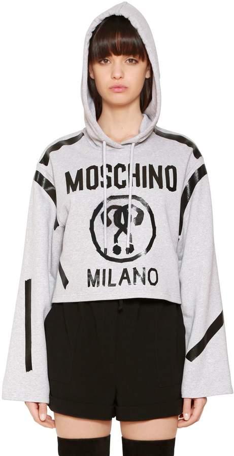 Moschino Hooded Cotton Sweatshirt