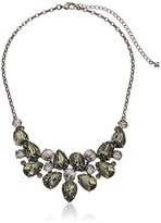 """Sorrelli Gold Vermeil"""" Dare To Pear Crystal Bib Necklace, 17"""" + 4.5"""" Extender"""