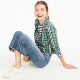 J.Crew Petite gathered popover shirt in vintage plaid