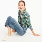 J.Crew Tall gathered popover shirt in vintage plaid