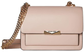 MICHAEL Michael Kors Jade Large Gusset Shoulder (Soft Pink) Cross Body Handbags