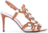L'Autre Chose studded sandals - women - Calf Leather/Leather/Metal (Other) - 36.5