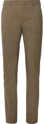 Prada Tan Slim-Fit Stretch-Virgin Wool Trousers