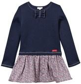 Absorba Navy Jacquard Top and Liberty Print Skirt Dress
