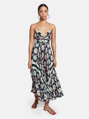 A.L.C. Gemini Pleated Open Back Midi Dress