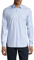 The Kooples Solid Spread Collar Sportshirt