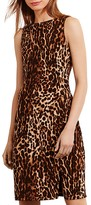 Lauren Ralph Lauren Petites Animal Print Sheath Dress