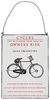 John Lewis Bike Sign