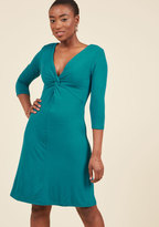 Dress for Yes Knit Dress in Teal in XXS