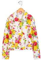 MonnaLisa Girls' Lightweight Floral Patterned Jacket w/ Tags