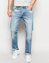 Jack and Jones Intelligence Light Wash Jeans in Straight Fit