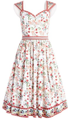Alice + Olivia Portia Sweetheart Floral Dress