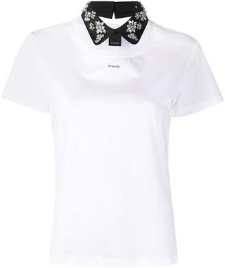 Pinko crystal-embellished logo-print T-Shirt