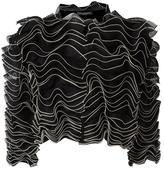 Alexander McQueen frill cardigan - women - Silk/Polyamide/Polyester/Viscose - 40