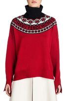Fendi Fair Isle Wool & Cashmere Turtleneck Sweater