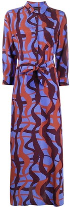 Aspesi Abstract Print Maxi Dress