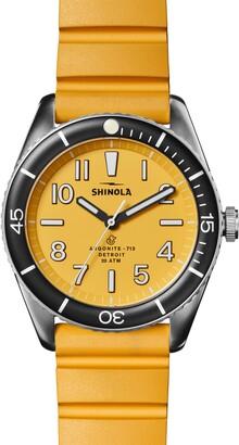 Shinola Duck Rubber Strap Watch, 42mm