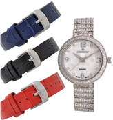 Croton Womens Silver Tone 4-pc. Watch Boxed Set-Cn207555rhmp