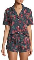Desmond & Dempsey Floral-Print Shorty Pajama Set