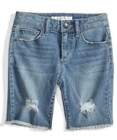 Joe's Jeans Boy's Frayed Hem Bermuda Jean Shorts