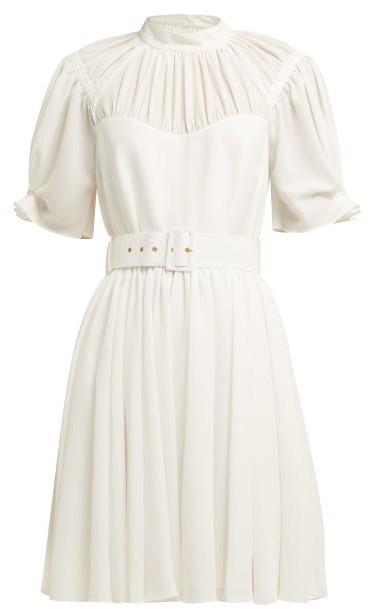 Emilia Wickstead Corinne High-neck Mini Dress - White