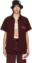 Thumbnail for your product : SSENSE WORKS SSENSE Exclusive 88rising Burgundy 'Double Happiness' Shirt