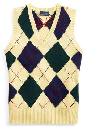 Ralph Lauren Argyle Jumper Waistcoat
