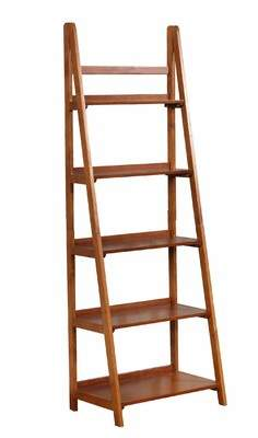 Canora Grey Tremaine Wooden Ladder Bookcase Canora Grey
