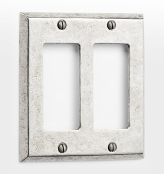 Rejuvenation Pewter Lewis Double GFCI Switchplate