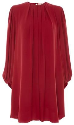 Alexander McQueen Silk Pleated Dress