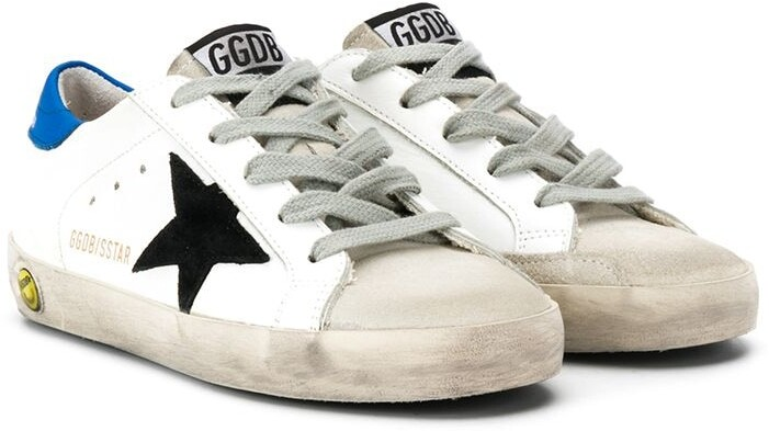 Golden Goose Kids star print lace up sneakers
