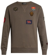 Alexander Mcqueen Badge-appliqué Cotton Sweater