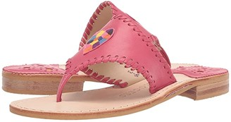 Jack Rogers Kennedy Embroidered Icon Sandal (Magenta) Women's Shoes