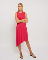 Jaeger Jersey Asymmetric Dress