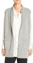 Eileen Fisher Plush Mélange Knit Shawl Collar Vest
