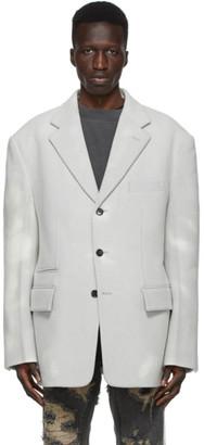 we11done Grey Wool Blazer