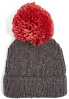 Topshop Women's Pompom Beanie - Red