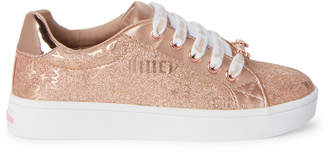 Juicy Couture Toddler/Kids Girls) Rose Gold Riverside Glitter Low-Top Sneakers