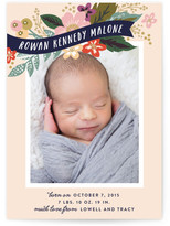 Minted Floral Banner Birth Announcements