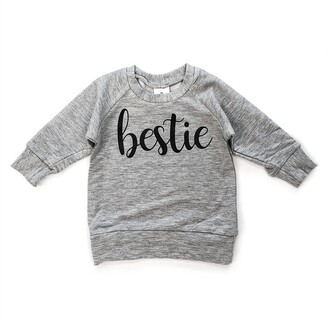 Posh & Cozy Crew Neck Sweater Bestie Grey 1T