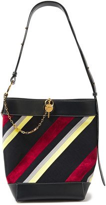 J.W.Anderson Keyts Paneled Leather, Suede And Shell Bucket Bag