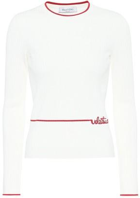 Valentino ribbed-knit sweater