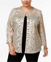 JM Collection Plus Size Faux-Leather Jacket, Only at Macy's