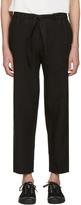 TOMORROWLAND Black Linen Easy Trousers