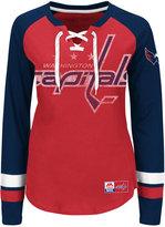 Majestic Women's Washington Capitals Hip Check Long Sleeve T-Shirt