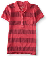 Aeropostale Womens Prince & Fox Striped Jersey Polo Shirt