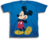 Freeze Blue Mickey Mouse Typography Tee - Boys