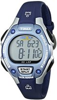 Timex Women's Ironman 30-Lap Digital Quartz Mid-Size Watch, Blue/Silver-Tone - T5K018