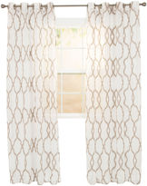 Asstd National Brand Cambridge Home Elisa Embroidered Grommet-Top Sheer Curtain Panel