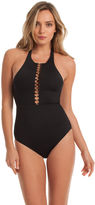 Trina Turk Gypsy Solids High Neck One Piece
